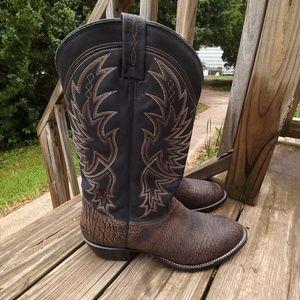 Tony Lama Tree bark Western boots